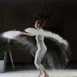 Dance photography with flour