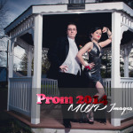 prom photography ideas couple standing in gazebo