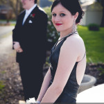 prom photography ideas girl sitting on front of car