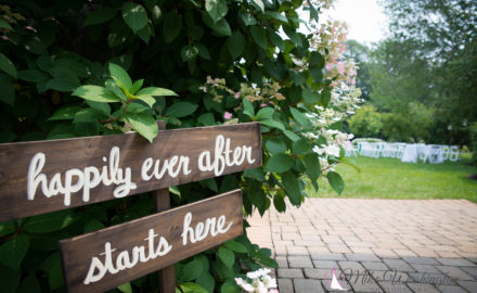 Happily Ever After Starts Here wooden sign