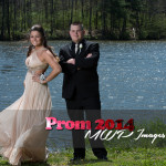prom photography ideas couple standing by pond