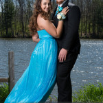 prom photography ideas couple with hand on guy shoulder