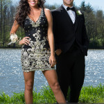 prom photography ideas couple in high fashion pose