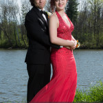 prom photography ideas couple in front of lake