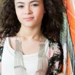 Indianapolis Senior Photographer | Alicia Images | orange wall closeup