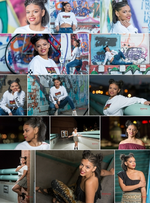 taylors senior session blog collage
